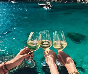 summer, sea, and drink image