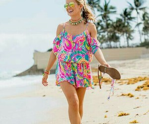 happy, pink, and lilly pulitzer image