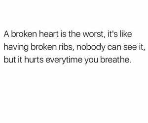 breathe, broken, and heart image