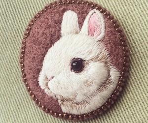 bunny, embroidery, and handmade image