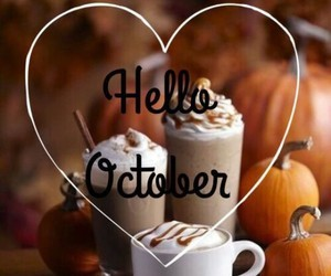 october, hello, and autumn image