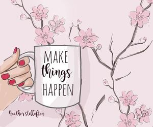 art, flowers, and motivation image