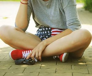 american, pretty, and beautiful image