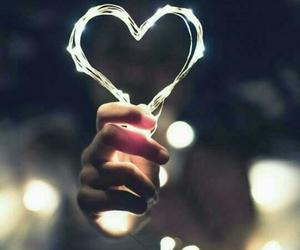 heart, love, and light image