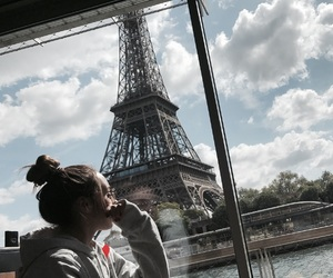 brunette, city, and disneyland image