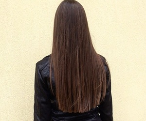 brunette, girl, and hair image