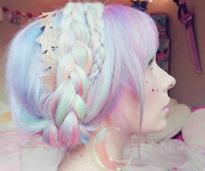 unicorn hair and holographic hair image