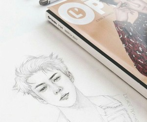 art, exo, and drawing image