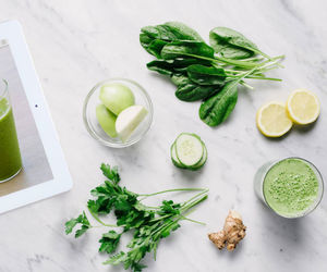 food, green, and white image