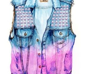 drawing, blue, and jeans image