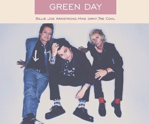 billie joe armstrong, tre cool, and greenday image