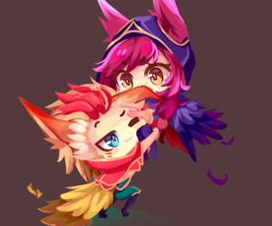 anime, league of legends, and chibi image