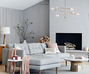 gray, home decor, and pink image