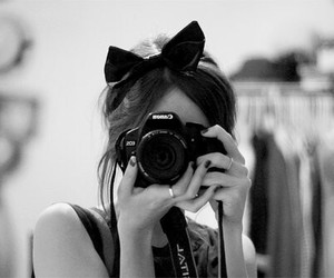 black and white and camera image