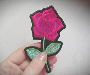 patches, rose, and roses image