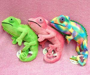 chameleon, plush, and toys image
