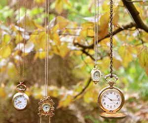 clocks, gold, and vintage image
