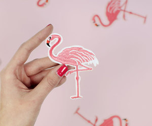 flamingo, kawaii, and patches image
