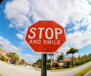 smile and stop image