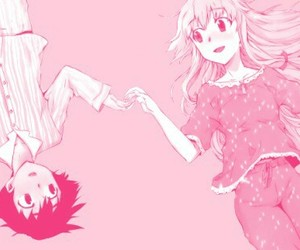 pink, mirai nikki, and cute image