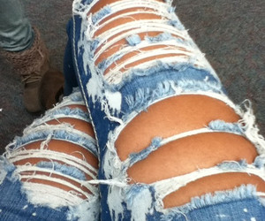jeans, cool, and ripped jeans image