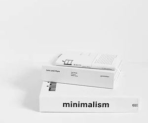 white, book, and minimalism image