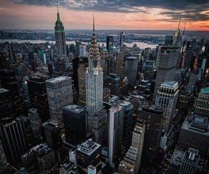 city, new york, and landscape image