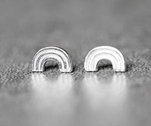 arc, silver jewelry, and cute earrings image