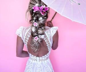 fashion, dress, and braid image