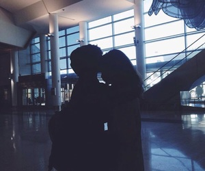 airport, couple, and love image