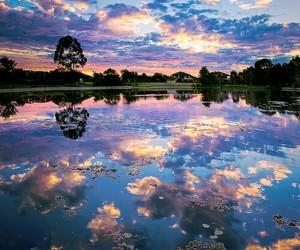 beautiful, reflex, and sky image