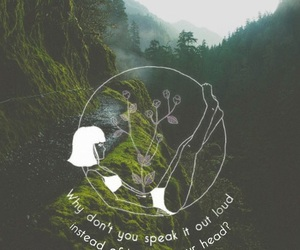 band, forest, and heart out image