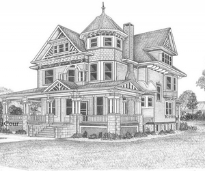 architecture, beauty, and draw image
