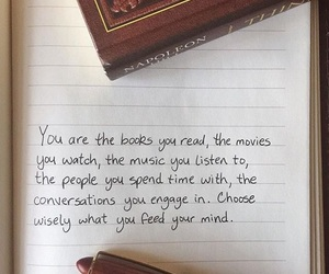 books, music, and quote image