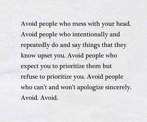 quote, avoid, and feelings image