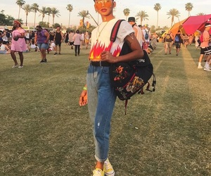 coachella, fashion, and makeup image