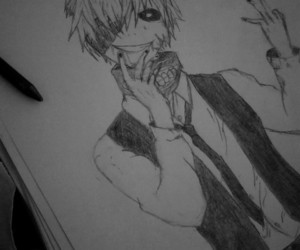 anime, draw, and tokyo ghoul image