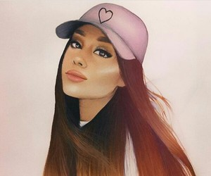 ariana grande, draw, and hair image