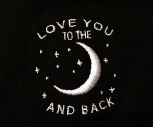 moon, love, and black image