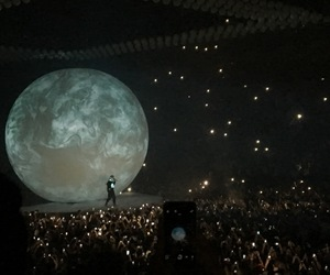 concert, Drake, and moon image