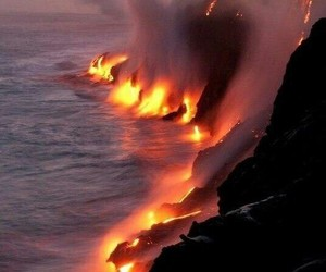 lava, fire, and nature image