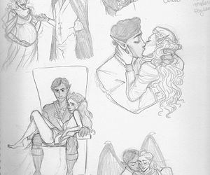 art, sketch, and true love image