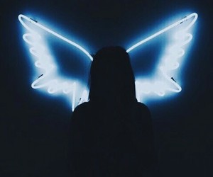 angel, light, and wings image
