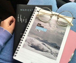 books, glasses, and indie image