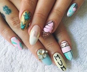 ice cream, nails, and design image