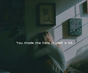hate, quote, and life image
