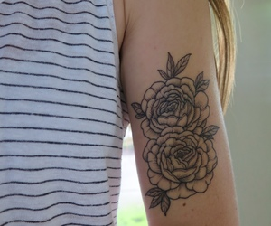 floral, peonies, and peony tattoo image
