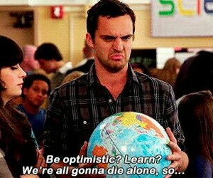 new girl, quote, and true image
