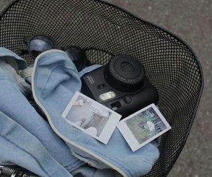 blue, grunge, and polaroid image