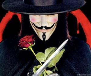 v for vendetta, black and white, and v image
